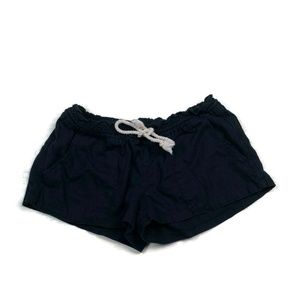 Roxy Oceanside Linen Black Shorts Elastic Waist